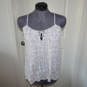 Knox Rose Gray/white floral tank